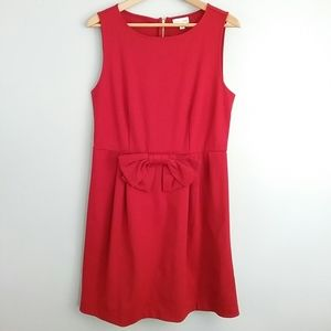 Maison Jules Red Bow Detail Fit & Flair Dress
